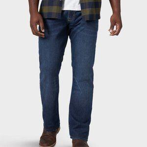 Wrangler Men's Straight Fit Flex Jeans Denim Blue